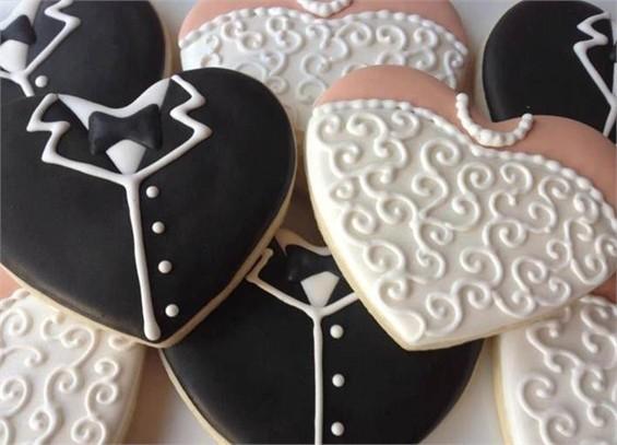 עוגיות מעוצבות לחתונה